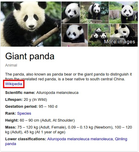 Panda Knowledge Graph