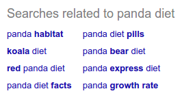 Panda Diet Related Searches