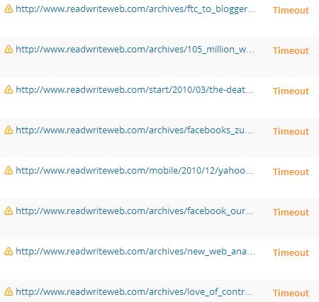 I link non funzionanti di Read Write Web