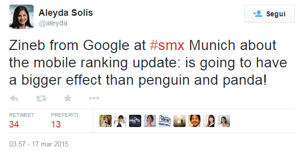 L'impatto del mobile ranking update