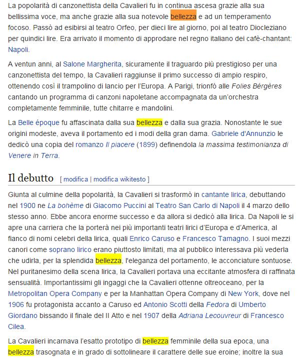 Lina Cavalieri su Wikipedia