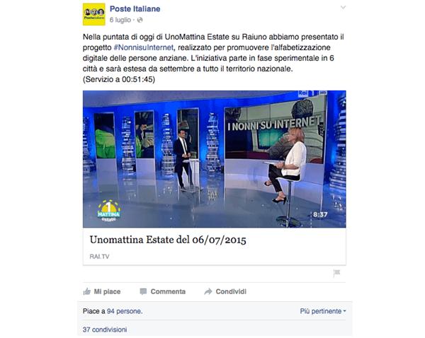 Poste Italiane su Facebook