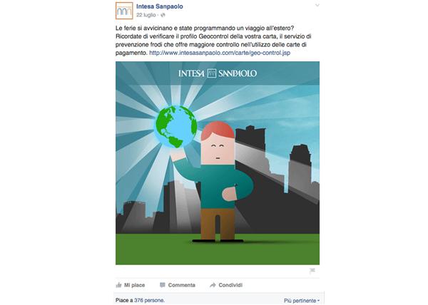 Banca Intesa San Paolo su Facebook