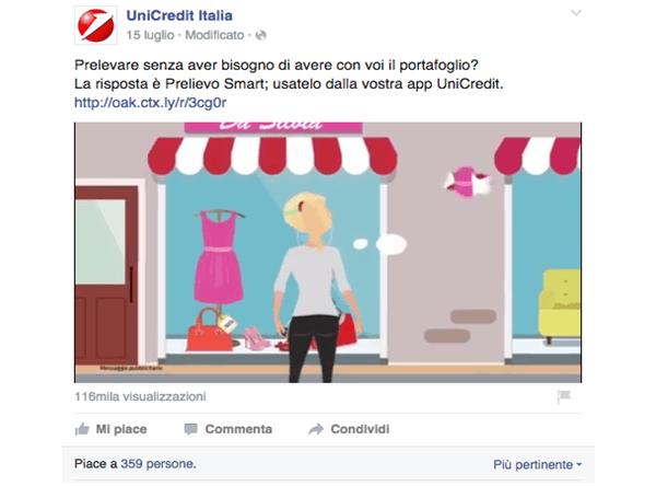 Unicredit Banca su Facebook