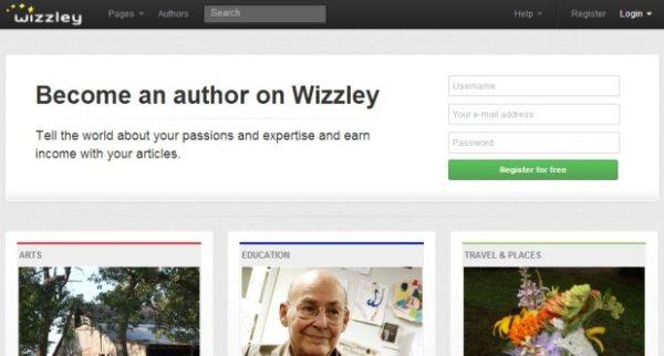 Landing page di Wizzley