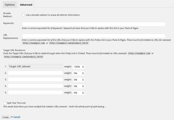 Funzioni avanzate del plugin Pretty Link