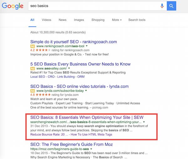 Posizionamento del contenuto sempreverde su Google