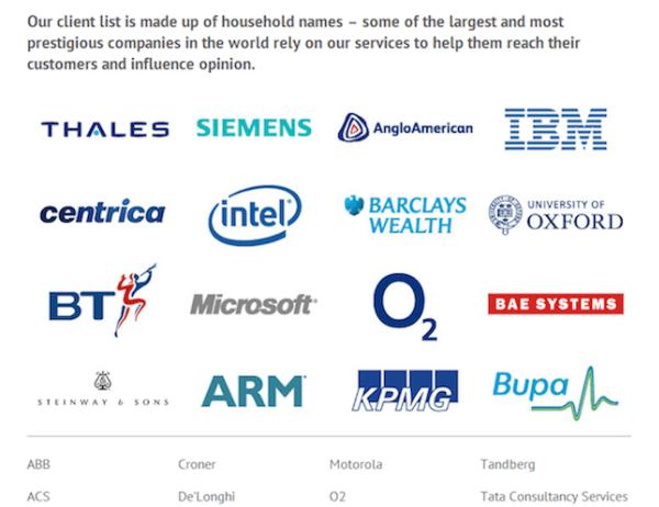 Lista dei clienti