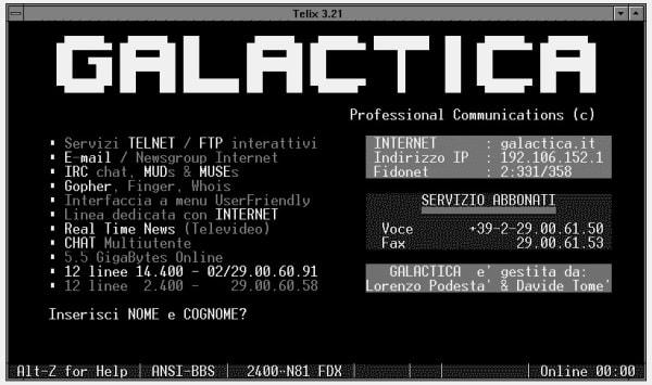 Galactica BBS