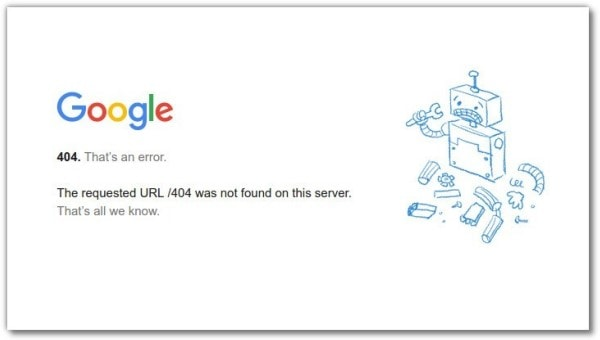Gestire gli errori 404 della Search Console