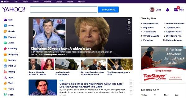 Il nuovo Yahoo!