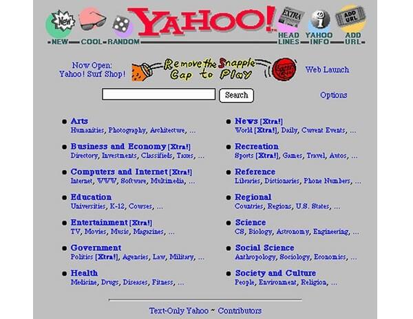Il vecchio Yahoo!