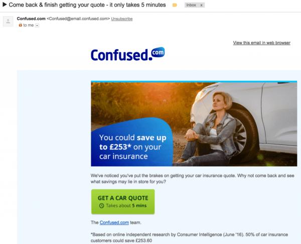 Email per recuperare gli utenti che abbandonano il form