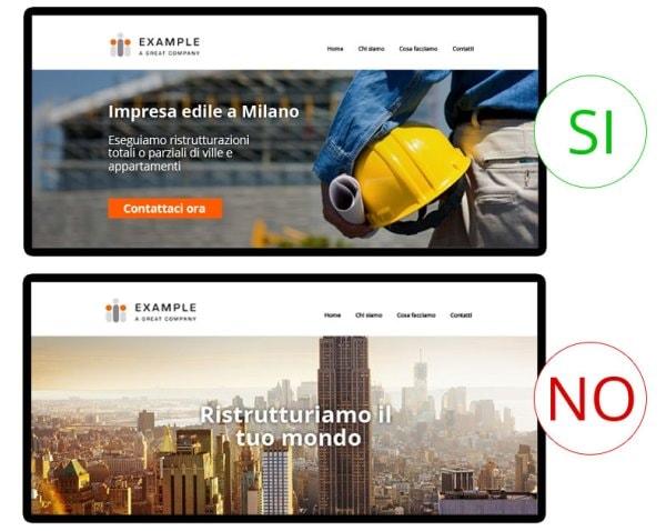 Esempi di 2 home page