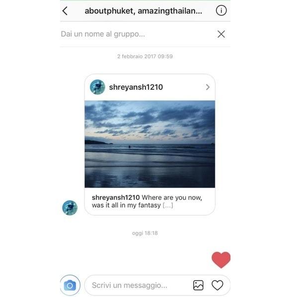 Cuoricino su Instagram