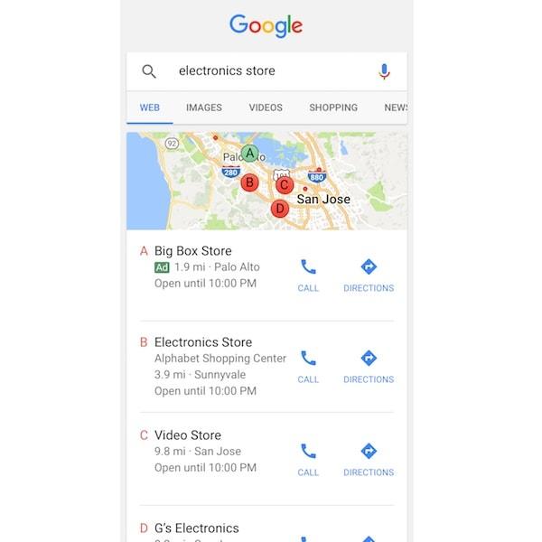 Local Pack di Google