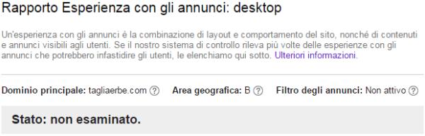 Rapporto Esperienza con gli annunci desktop
