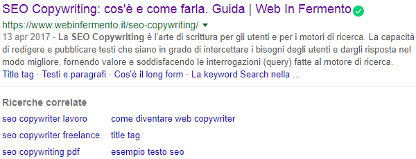 Ricerche correlate su Google