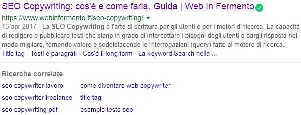 Ricerche correlate su Google