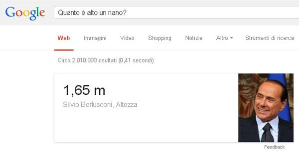 Google Bombing Berlusconi Nano