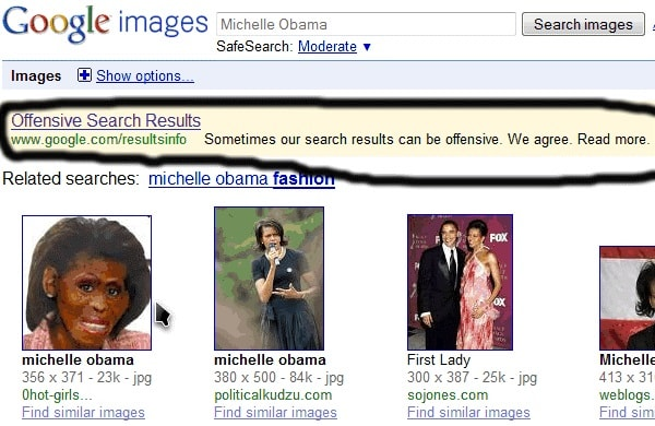 Google Bombing Michelle Obama