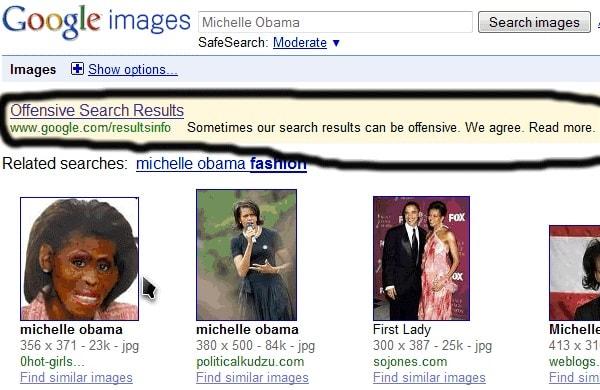 Google Bombing Michelle Obama