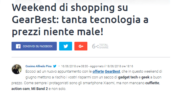 Post di SmartWorld con link interno