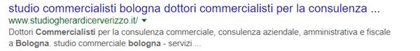 Query commercialista bologna