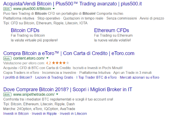 Query comprare bitcoin