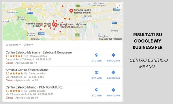 Google My Business per Centri Estetici