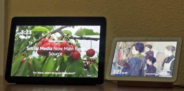 Google Home Hub Amazon Echo Show