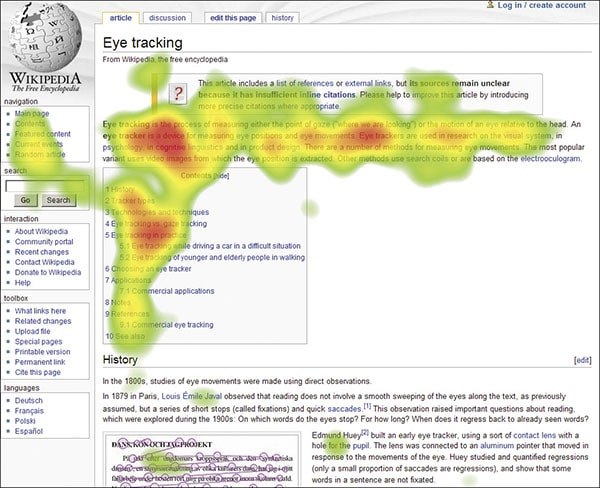 Heatmap Wikipedia
